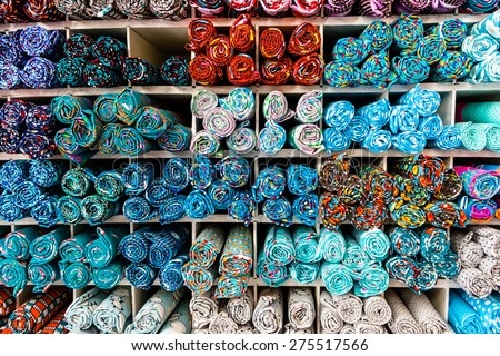 Pattern detail with colors and circles - stock photo