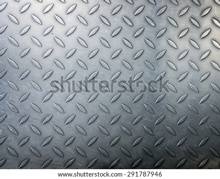 Pattern diamond metal plate background - stock photo