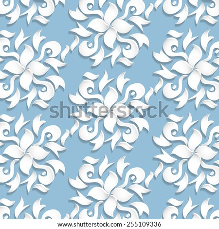 Pattern in floral style, like paper flowers