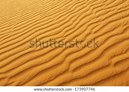 Pattern in the desert, Sahara - Tunisia. Visible large-scale structure of the sand!