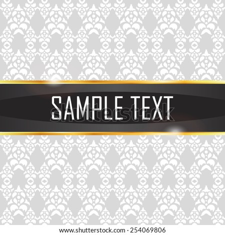 Pattern in vintage style with the band for text