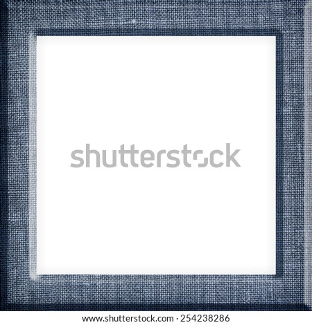 Pattern linen,Texture of canvas pattern picture frame isolated on white background