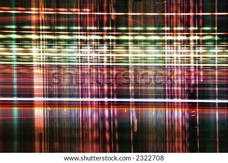 pattern made from urban lights - stock photo