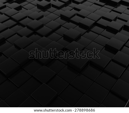 pattern of black cubes