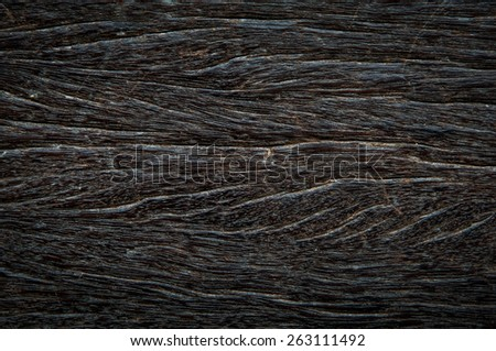 Pattern of black wooden and textured - stock photo