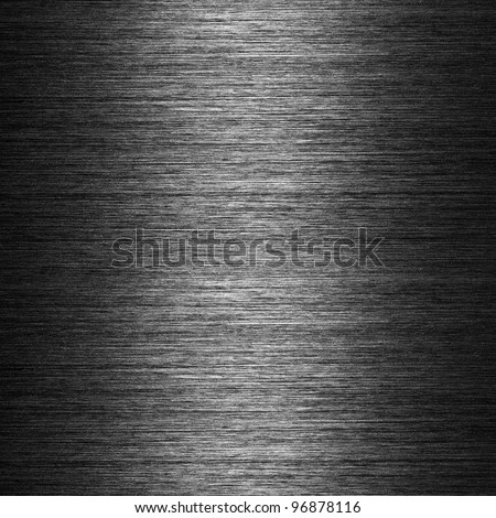 pattern of Brushed metal background. metal plate template - stock photo