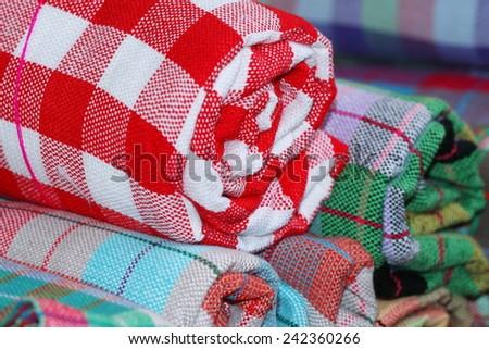 pattern of cloth fabric Thai  - stock photo