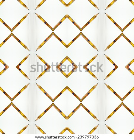 Pattern of Color graphite pencils with pointed tip isolated on the white background - stock photo