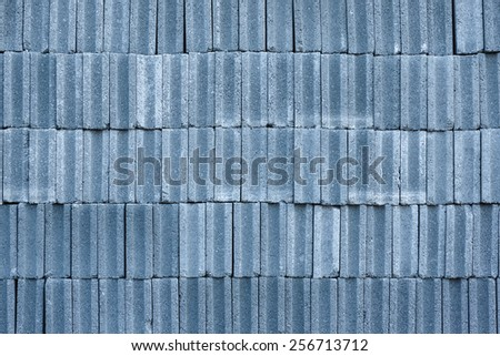 Pattern of concrete block bricks stacked together#2 - stock photo