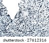 pattern of cracked glass - stock photo