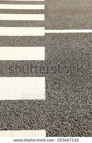 Pattern of Crosswalk in City - stock photo