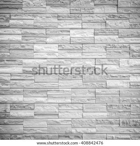 pattern of decorative gray slate stone wall surface - stock photo