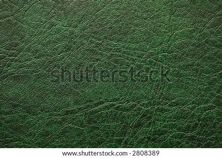 Pattern of green  leather - can be used as background