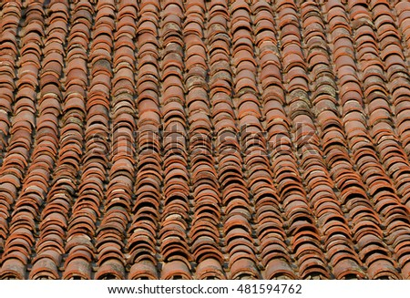 Tiles roof background stock photo 134466341 shutterstock for Roof tile patterns