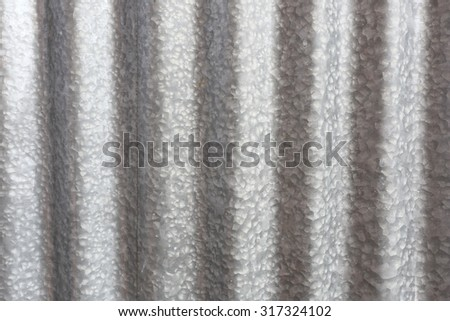 pattern of metal fence,zinc roof - stock photo