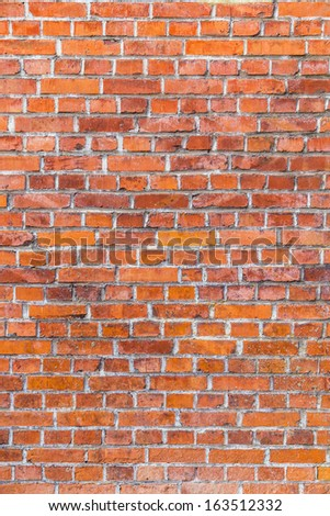pattern of old historic brick wall im harmonic structure - stock photo