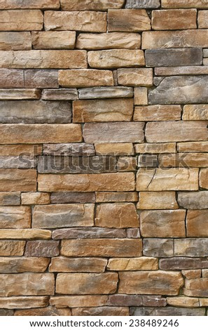 Pattern of old stone Wall - stock photo