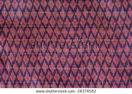 Pattern of old thai native cloth - stock photo