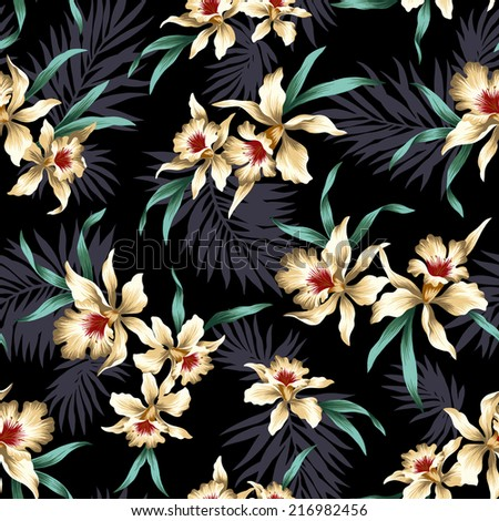 pattern of orchid - stock photo