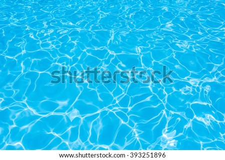 Pattern of ripple water in swimming pool for background - stock photo