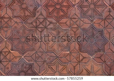Pattern of Stone cubes, path, background - stock photo