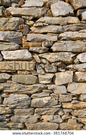 pattern of Stone wall background.