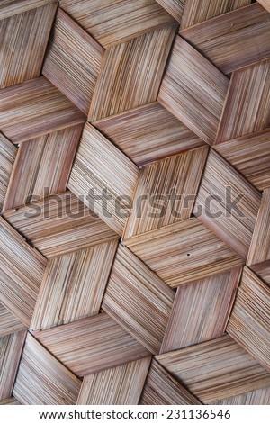 Pattern of Thai style bamboo handcraft background - stock photo