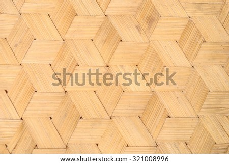 Pattern of Thai style bamboo handcraft texture background