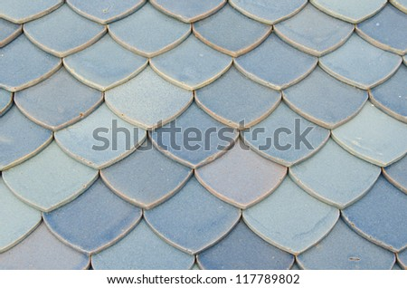 Pattern of Thai style roofing tile , Thailand. - stock photo