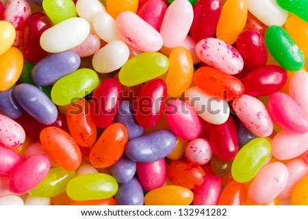 pattern of the jelly beans - stock photo