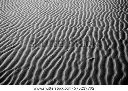pattern of the sand texture at the desrt as black and white picture