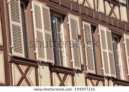Pattern of the windows and storm-shutters  - stock photo