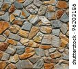pattern of traditional stone brick wall - stock photo