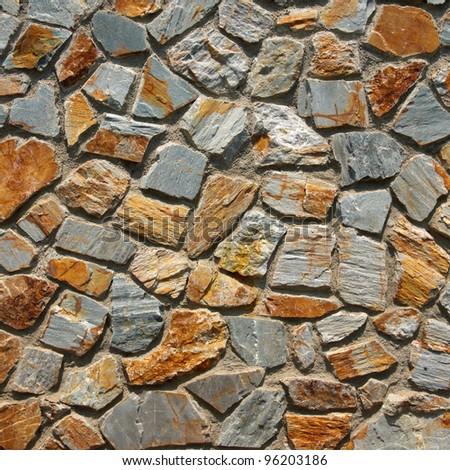 pattern of traditional stone brick wall - stock photo