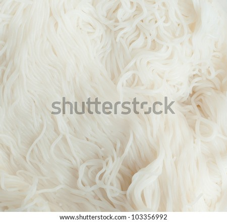 pattern of white noodles, asian food