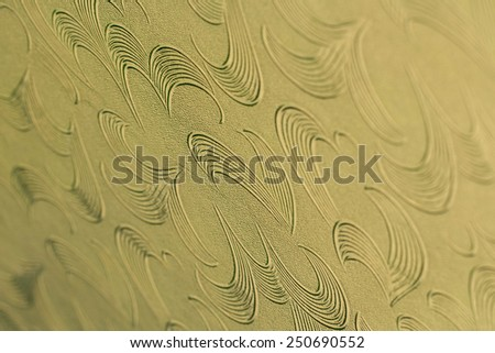 pattern on Background corrugated glass, spot focus some area - stock photo
