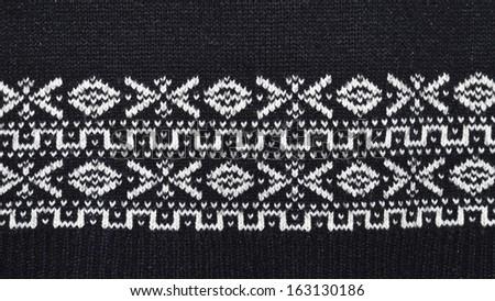 Pattern on fabric - stock photo