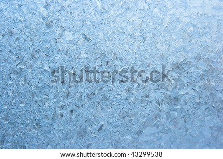 Pattern on glass - stock photo