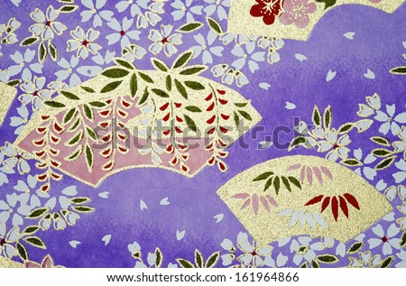 Pattern on the wrapper of the Japanese - stock photo
