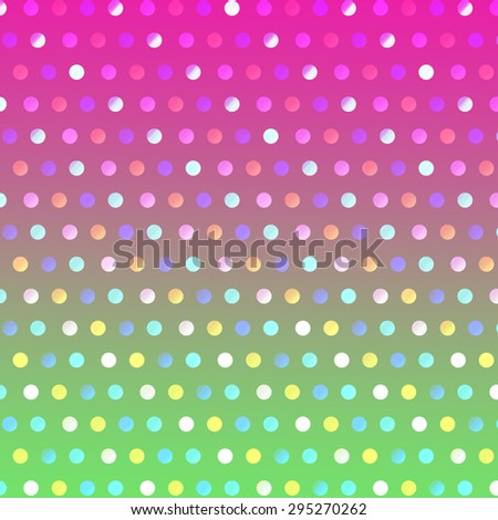 Pattern pink and green polka dot background. - stock photo