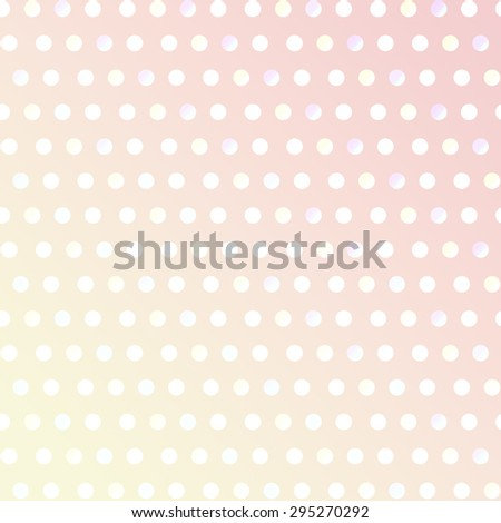 Pattern pink color polka dot background. - stock photo
