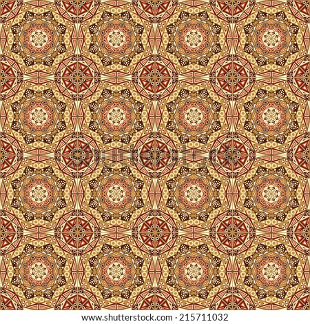 Pattern seamless. Colorful ethnic ornament. Arabesque style - stock photo