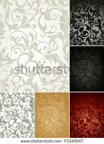 Pattern set of six colors, bitmap copy - stock photo