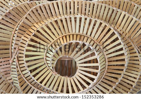 Pattern texture of bamboo weave hand made