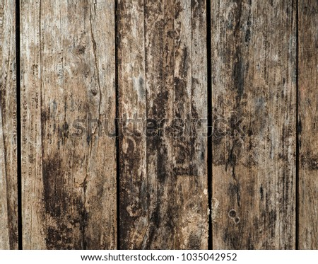Pattern Vintage old wood texture of dark brown wooden for background