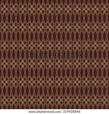 Pattern with seamless  ornament. Modern stylish geometric background with repeating golden waves