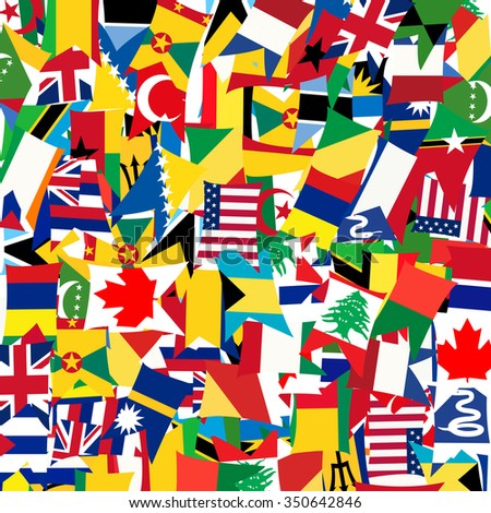 Pattern with world's flags