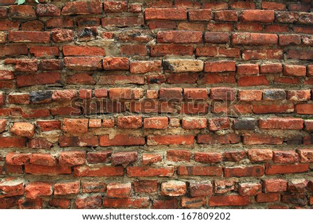 patterned brick walls and construction - stock photo
