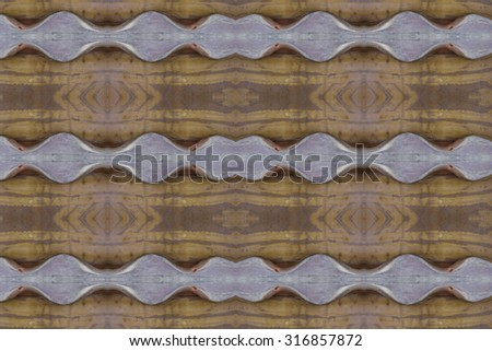 Patterned ceramic wall
