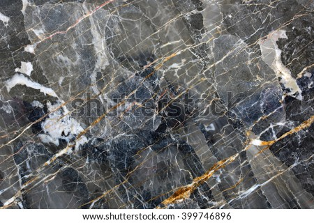 Patterned natural of  dark gray marble pattern (Gold Russia) for design. - stock photo